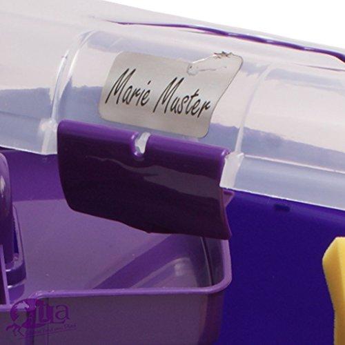 Kinder Pferde Putzbox (gefüllt) Lila mit Namensgravur - 2