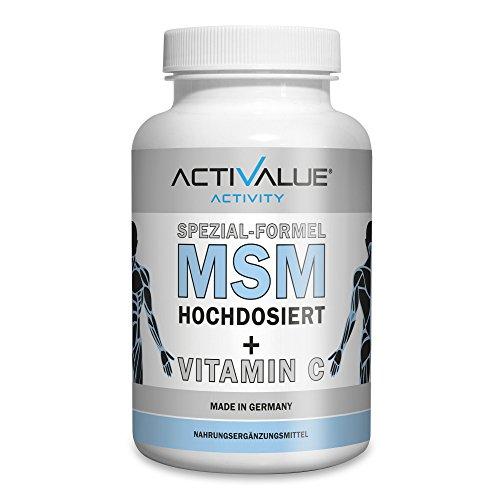 MSM Kapseln hochdosiert mit natürlichem Vitamin C, das Original von Dr.med.Wagner, 1200mg Methylsulphonylmethan (MSM) und 80mg Vitamin C pro Tagesdosis, deutsches Premium-Produkt , XL-Packung für 3 Monate