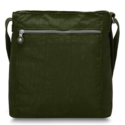 Oakarbo Damen Schultertasche Umhängetasche Nylon Travel Cross Body Bag(1301 Armee grün) 1301 Armee grün