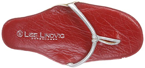 Donna Infradito Lindvig Mehrfarbig red Silver Multicolore Sandali Lise Nora wgtqUqI