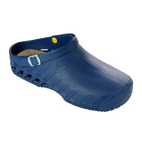 Scholl Sicherheitsschuhe Clog EVO - Flexible Schuhe für alle, die Lange auf den Beinen sind - Rutschfest, antistatisch & autoklavierbar - Schutzklasse 2 - 20mm Absatz