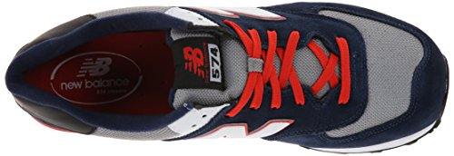 New Balance ML574 Herren Sneakers Mehrfarbig (Blue/Grey/White/Red)