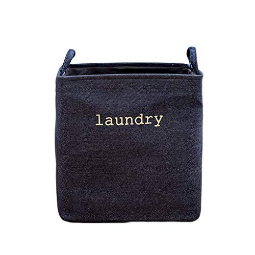 KKY-ENTER Panier à linge toile de jute coton pliable corbeille sale Coffre à Linge (Couleur : B, taille : 35 * 25 * 40cm)