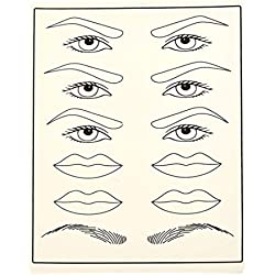LouiseEvel215 Permanent Training Augenbraue Leder Blank Nadel Tattoo Simulation Praxis Haut Künstliche Lippen Tattoo Praxis Haut
