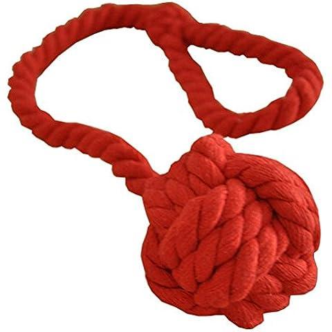 Pixnor lavorato a maglia tenda cravatta cotone cravatta corda (Rosso)