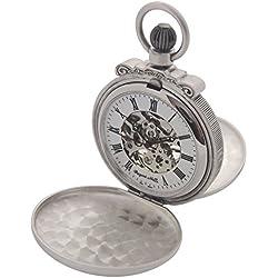 Regent Hills Unisex Brass Pocket Watch With Chain 565F04ATS-W2