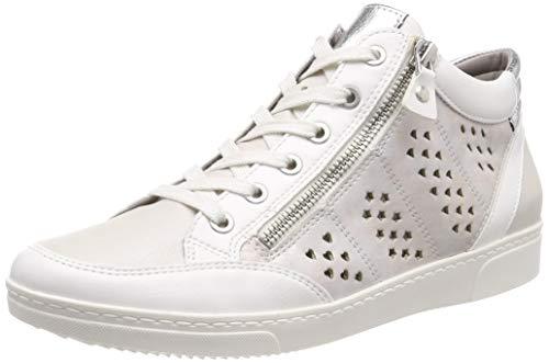 Nike Wmns Tanjun, Sneaker a Collo Alto Donna, Bianco (Weiss, Puder/Silber 76) 41 EU