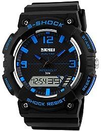 Lemumu 1057 Hombre Mujer Ver Deportes Multi - Función Deportes impermeable reloj Relojes electrónicos de 50