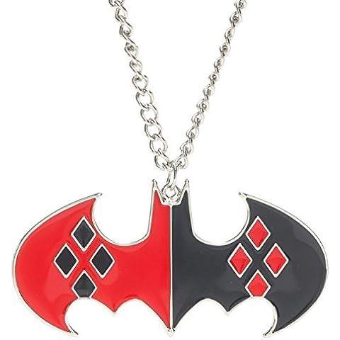 Ufficiale DC Comics Batman Harley Quinn Logo Collana con Pendente - Logo Ufficiale Pendente Logo A Pendente
