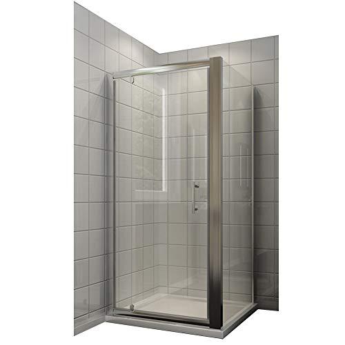 duschtrennwand eckeinstieg Neueröffnung 90x90cm Duschkabine Rechteck Eckeinstieg Drehpunkt Schwingtür + Seitenwand