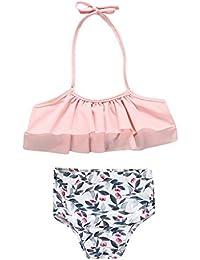 Poachers Ropa baño Niñas bebé Verano 12meses-5años Dos Pieza tación Playa Conjuntos Bikinis Cómodo