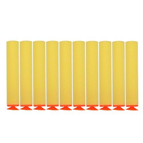 100 stücke Foam Bullet, 10 Farben Toy Gun Soft Refill Kugeln Darts Eva-Schaum für Elite(Gelb)
