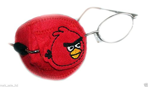 Eye Patch Kids Orthoptic per Amblyopia Lazy Eye Occlusion trattamento terapeutico Angry Birds Red Right