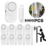 Senweit Lot de Lot de 8 mini Alarme de Porte Maison Sans Fil Anti Intrusion Alarme maison Système de sécurité sans fil Sensor Cambrioleur intrus d'entrée d'alarme d'avertissement batterie incluse