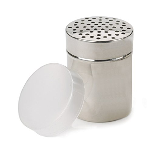 RSVP 18/8 Stainless Steel All Purpose Cheese/Coarse Salt/Pepper Shaker Server - All Purpose Shaker