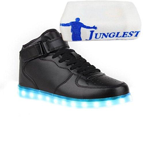 [Présents:petite serviette]JUNGLEST® 7 Couleur Homme Femme USB Charge Lumière Lumineux Clignotants Ch Noir
