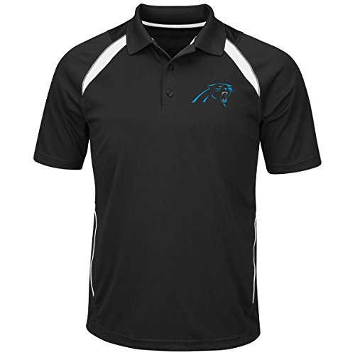 "Carolina Panthers Majestic NFL ""Winners"" Men's Short Sleeve Polo Shirt"