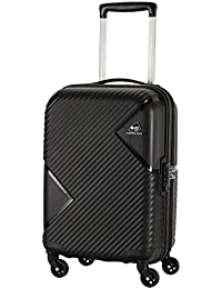 Kamiliant by American Tourister Kam Zakk Polypropylene 55 cms Black Hardsided Cabin Luggage (KAM Zakk SP55CM - Black)
