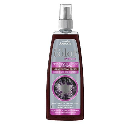JOANNA ULTRA COLOR Spray Rosa Haarspülung, Anti Gelb 150 ml