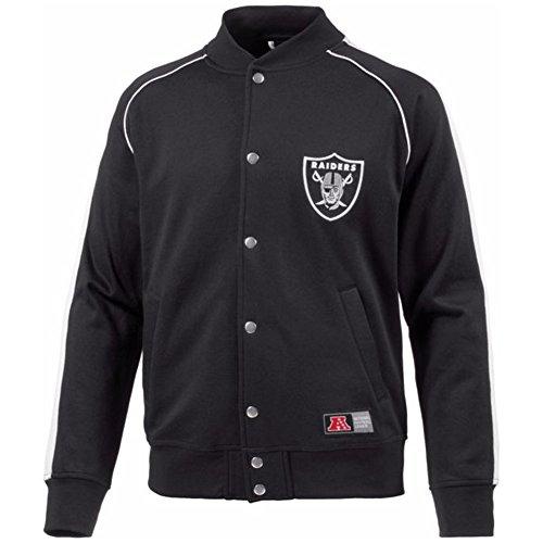 Majestic Herren Fleece Letterman Jacket, Black, L