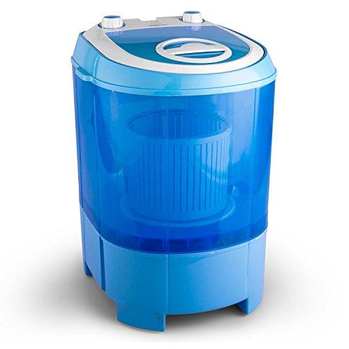 oneConcept SG003Notebook Toplader 2.8kg blau–Waschmaschine (tragbar, Toplader, blau, oben,–ROHS, 2,8kg) (Kompakt Waschmaschine Trockner)