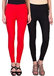 2DAYS STYLISH WOMEN JEGGING RED/BLACK (PACK OF 2)