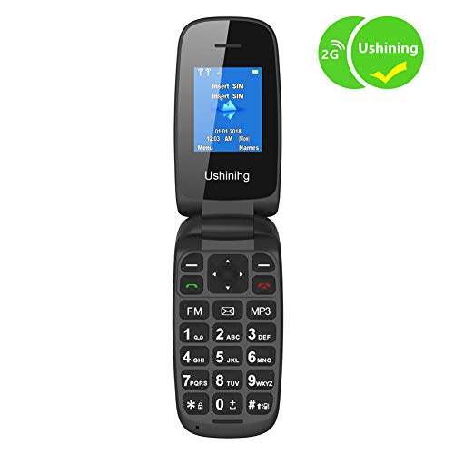 3a5023088e8 Flip Mobile Phone Pay as You Go Simple GSM Dual SIM Basic Button Clamshell  Feature Phone