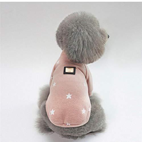 MUXIAND Weiche Haustier-Hundekleidung für Hundewelpen-Katzen-Winter-warme Kleidung-Stern-Druck-Kostüm-Mantel-Chihuahua preiswertes Rosa