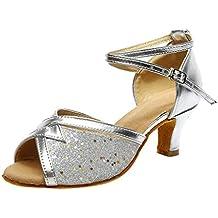 631b4f14f QUICKLYLY Zapatos Tacón Alto Plataforma Abiertos Mujer Tacones Altos Fiesta  Sexy