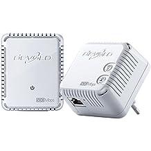 Devolo dLAN 500 WiFi, Prise Réseau CPL WiFi (500 Mbit/s, 2x Adaptateur, 2x Ports Fast Ethernet, Ampificateur WiFi, Augmenter Portée Wifi, Courant Porteur, WiFi Move) - Kit de Démarrage, Blanc