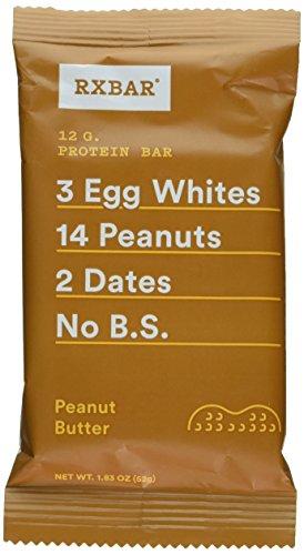 RX Bar Protein Bar, Peanut Butter, 1.83 oz (12 Count) by RXBAR (Food Butter Bar Peanut)