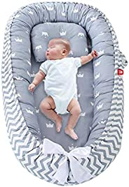Perfuw Baby Lounger, Portable Newborn Bassinet,Hypoallergenic Sleep Crib - 100% Breathable Cotton,Pressure-res