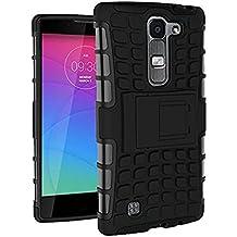 Funda Duro Tapa Case Cover - TOOGOO(R)Para LG Magna(LG G4C/LG G4 mini), Funda Carcasa Duro Tapa Case Cover con soporte (negro) + Gratis aguja de la pantalla stylus universales