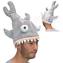 SHARK Attack Bite Novelty Unisex Jaws estilo felpa truco disfraz gorro de peces