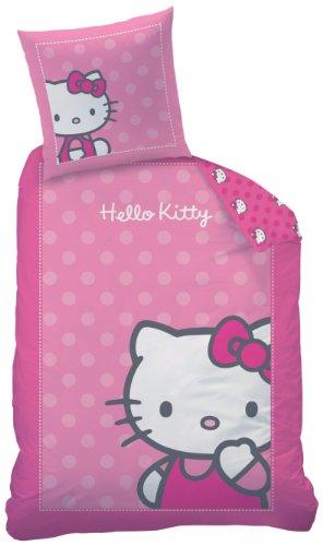 CTI 040339 Bettwäsche Hello Kitty Camille/Biber / 135 x 200 + 80 x 80 cm