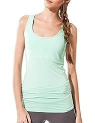 Camiseta sin mangas Fitness para mujer, Maya Top de Sternitz, Tela de Bambú - Ecológica y Suave - Perfecta para Yoga/Pilates/Deportes.