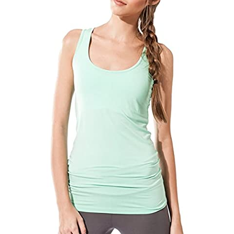 Camicia senza maniche da donna Sportiva Sternitz - Multicolore - Maya Top - ideale per pilates, yoga e qualsiasi sport, tessuto di bambù, ecologico e morbido.