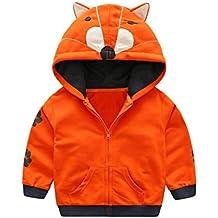 f3686012e827 BBsmile Automne Veste bébé Manteau Garçon Fille Cartoon Animal Hooded  Zipper Tops Manteau de vêtementsnfants