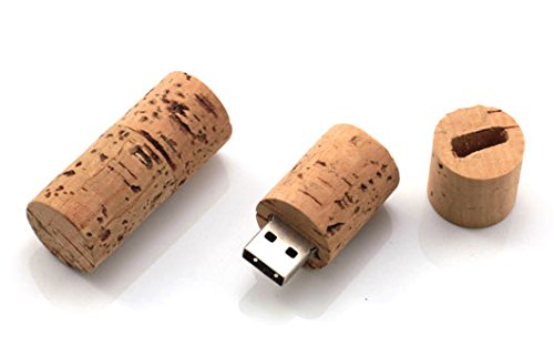Bottiglia di Vino Sughero 8 GB - Cork Wine Bottle - Chiavetta Pendrive - Memoria Archiviazione dei Dati - USB Flash Pen Drive Memory Stick