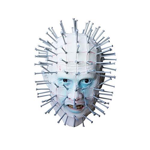 ZIJUAN Erwachsene Latexmaske Hell City Ghost Mask Karneval Weihnachten Halloween Neujahr Ostern Thema Party Kopfbedeckung Maske Kopfschmuck Cosplay Maske Leistung Dekoration Requisiten (Bei Party City Halloween-spiele)