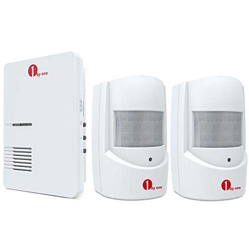1byone-wireless-driveway-alert-infrared-motion-sensor-with-1-plug-in-receiver-and-2-sensors