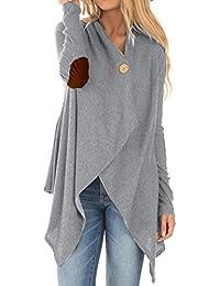 2cebade51dc0aa Damen Mantel,Honestyi Frauen Langarm Patchwork Unregelmäßige Open Front  Outwear Warm strickjacken lässig pullover Elegant