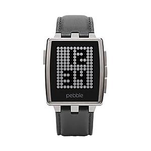 """Pebble Steel 22mm - Smartwatch (Bluetooth, ARM Cortex-M3, pantalla 1.26""""), color plateado"""