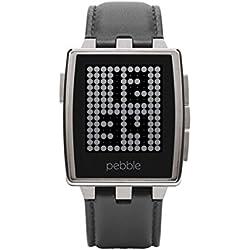 Pebble Steel Smartwatch Montre Connectée pour Smartphone Acier Brossé