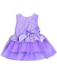 OHQ Vestido de niña bebé princesa arco sin mangas de jarabe de Granada Elegante ...
