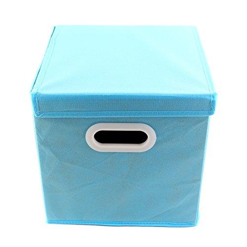 SYMTOP Plegable no Tejido habitación Infantil Organizador Juguete Caja de Almacenamiento Tela cajón de Cubo con Tapa