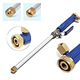 RASHION Deep Jet Power Washer Wand Extendable High Pressure Garden Sprayer Attachment with Water Hose Nozzle for Glass Cleaning, Foam Cannon Car Window Washer, 2 Tips