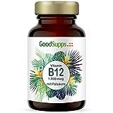 Vitamin B12-1000µg + Folsäure (B9) | 180 hochdosierte Tabletten | Zum Einführungspreis | Vorrat für 6 Monate | Vegan & ohne unerwünschte Zusätze | B12 hergestellt in Deutschland | GoodSupps