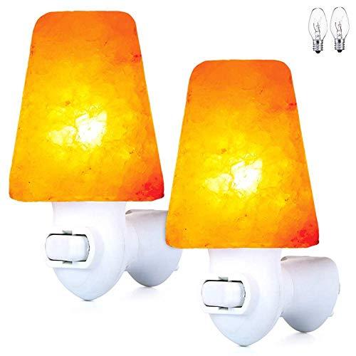 Himalaya Salz-Lampe Für Das Einfügen Zwei Zusätzliche Lampen, Rosa Steinsalz, Handgemachtes 360-Grad-Justierbarer Stecker, Luftreinigung (2 Stück)