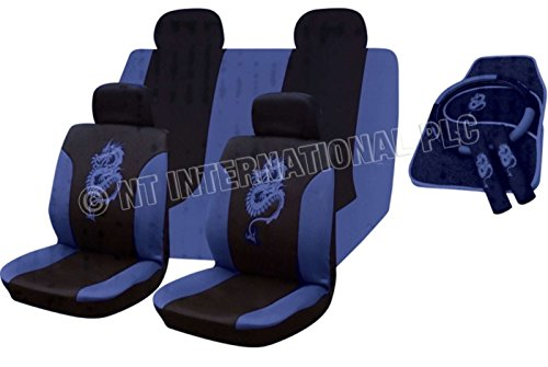 xtremeautoar-xa234w-seat-cover-set-matching-mats-steering-wheel-cover-pads-universal-blue-dragon